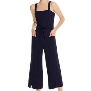 Joie Zephrine Cropped Wide Leg Jumpsuit Navy